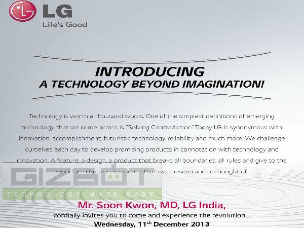 LG G Flex India Launch Event Set For December 11