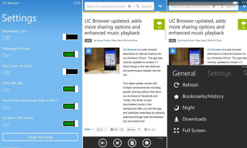 UC Browser Version 3.3 for Windows Phone to Support Wi-Fi Sharing