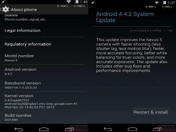 Google Releases Android 4.4.2 Update to Meet the Major Camera Fixes