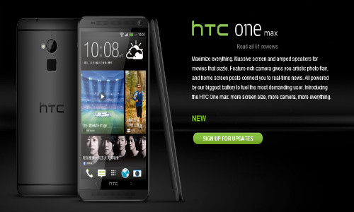 HTC One Max: Black Colored Variant Goes Official in Hong Kong