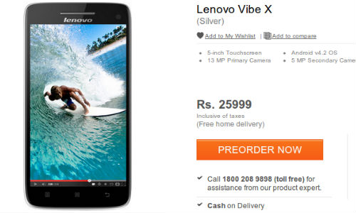 Lenovo Vibe X Up for Pre-Orders at Rs 25,999