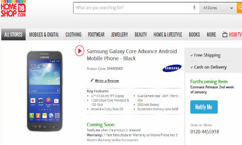 Samsung Galaxy Core Advance: India Release Date Set