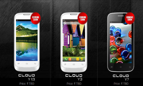 Intex Cloud Y3, Y7 and Y13 with Android 4.2 Jelly Bean Spotted Online