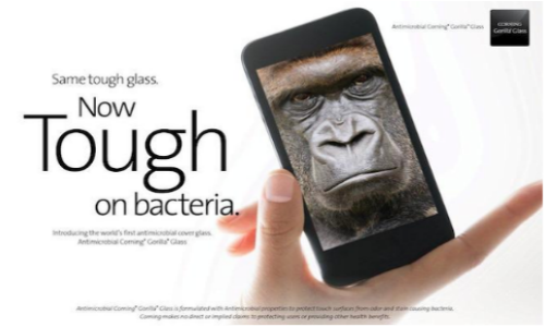 Corning Unveils World's First Antimicrobial Cover Glass At CES 2014