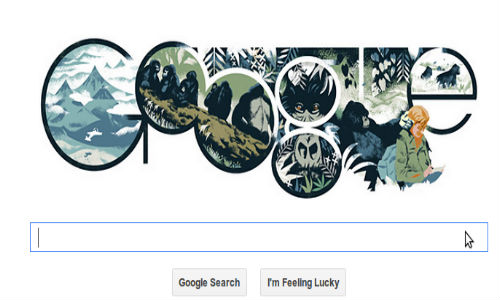 Google Celebrates Zoologist Dian Fossey's 82nd Birthday With a Doodle