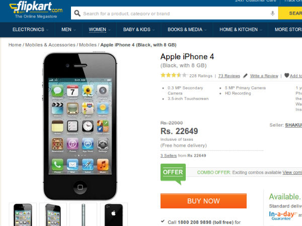 about apple mobile apple iphone 4 8gb relaunched at price of 23 000 top 10 22499