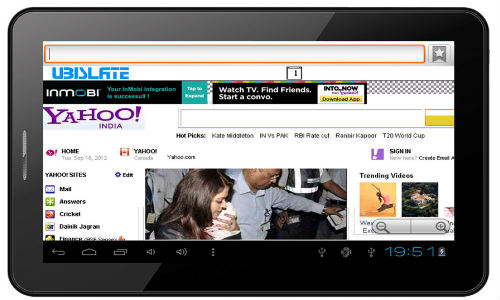 Datawind Launches UbiSlate 7CZ Tablet Powered by Android OS At Rs 5999