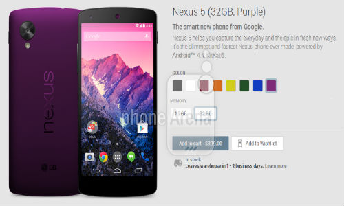 Google Nexus 5 in 6 New Color Variants Revealed Through A Leaked Video
