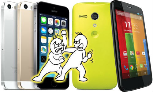 Apple iPhone 5s Vs Motorola Moto G: Fight to Top For Bragging Rights