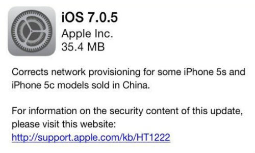 Apple Pushes Out iOS 7.0.5 For Select iPhones in Few Regions