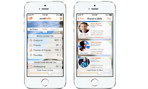 SocialRadar Mobile Network Arrives for iPhone