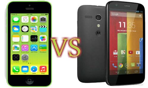 Apple iPhone 5c Vs Motorola Moto G: Who Takes the Cake