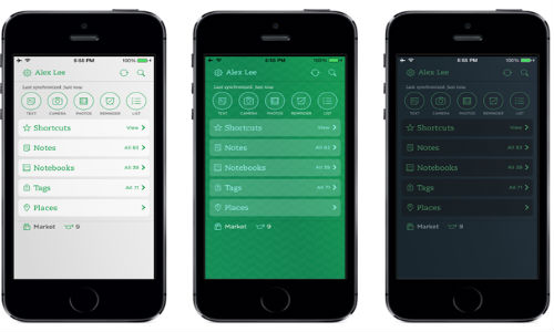 Evernote For iOS Updated: Now Customizable, Faster and Better