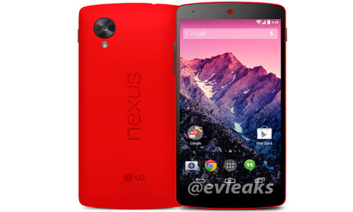 Red Google Nexus 5 smartphone Leaks Yet Again