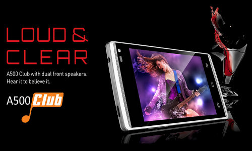 Xolo A500 Club With Dual Front-Facing Speakers Coming Soon For Rs 7099