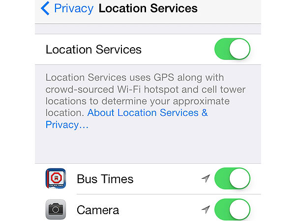 Turn Off Location Services