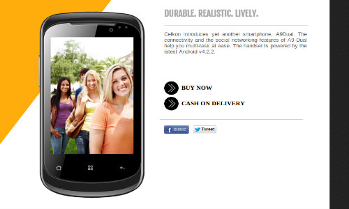 Celkon A9 Dual with Android Jelly Bean Listed via Official Website
