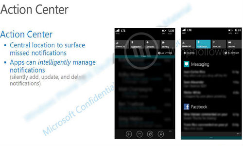 Leaked Windows Phone 8.1 Screenshots Reveal Notification Center