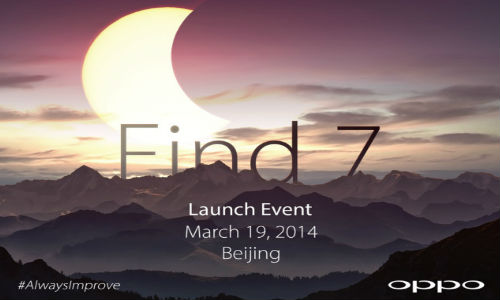 Oppo Find 7 With Quad HD Display to Launch on March 19