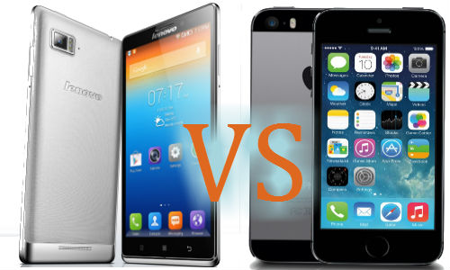 Lenovo Vibe Z Vs Apple iPhone 5s: A Heated Fight At the Top of