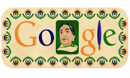 Google Marks Sarojini Naidu's 135th Birth Anniversary with Doodle