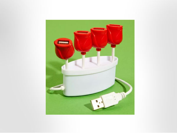 USB Tulip Hub - Four Port USB Flower Hub