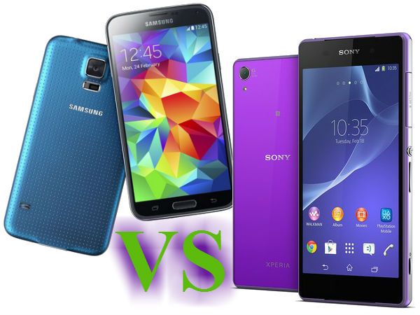 Samsung Galaxy S5 Vs Sony Xperia Z2: The MWC 2014 Cake Goes To?