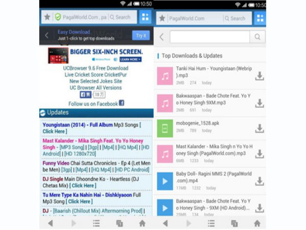 UC Browser 9.6 for Android Features  Easy Downloading Mode and More