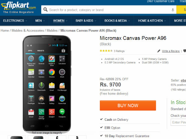 Buy At Price of Rs 8,780