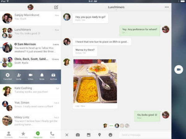Google Hangouts App For iOS Updated With New Design and More Features