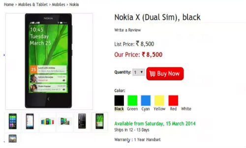 Nokia X: Dual-SIM Smartphone Now Listed Online in India At Rs 8,500