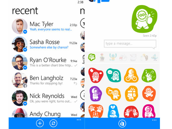 Facebook Messenger for Windows Phone 8 Now Available For Download
