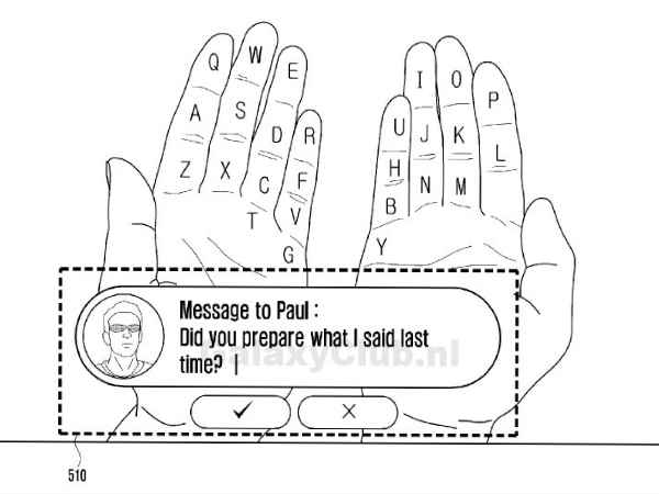Samsung Galaxy Glass Patent Filing Shows Augmented Reality Keyboard