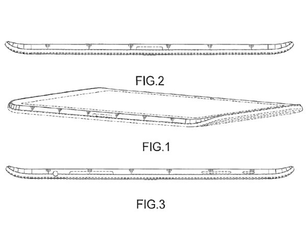 Samsung's Tablet Design With Curved Margins Show Up in Patent Filing