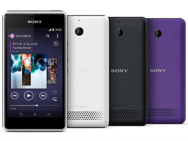 Sony Xperia E1 and E1 Dual Launched in India For Rs 9,490 and Rs 10490