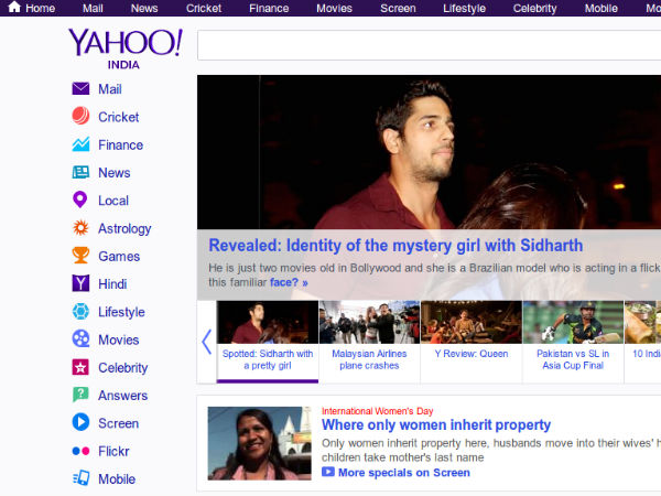 Redesigned Yahoo Homepage Goes Live In India