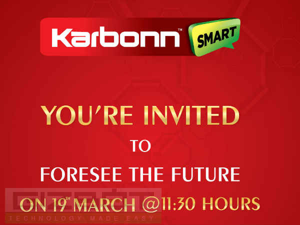 Karbonn Sends Out Press Invite For March 19 Event