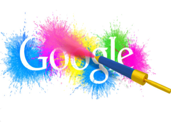 Google Publishes Colorful Holi Doodle To Mark the Occasion in India