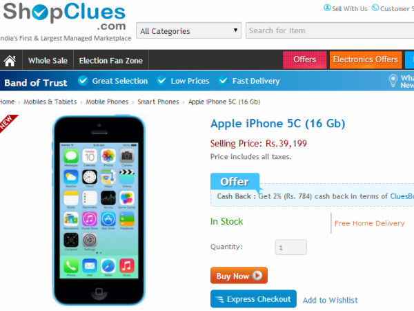 Top 10 Best Online Deals On Apple iPhone 5C Available in India