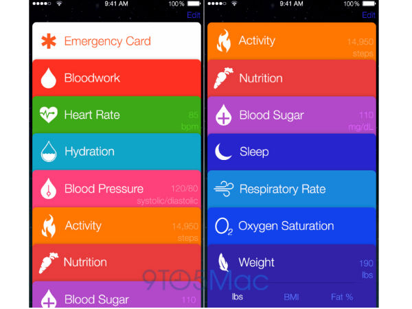 Apple's Healthbook App Leaked In Multiple Screenshots
