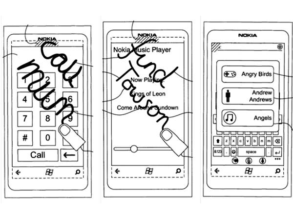 Nokia Touch-Screen Symbol Recognition Patents Appears Online