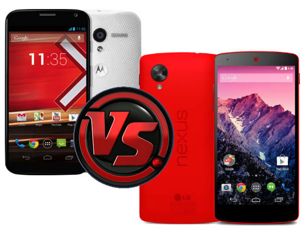 Motorola Moto X Vs Google Nexus 5: A Detailed Specs Comparison