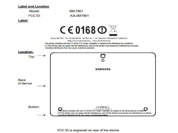 Upcoming Samsung AMOLED Tablet With 10.5-Inch Display Clears FCC