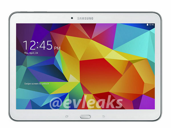 Samsung Galaxy Tab 4 10.1: Alleged Press Shot Leaked Ahead of Launch
