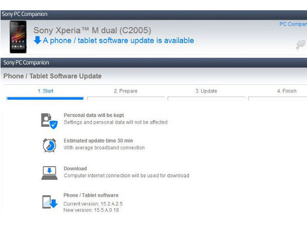 Sony Xperia M Dual Starts Receiving Android 4.3 Jelly Bean Update