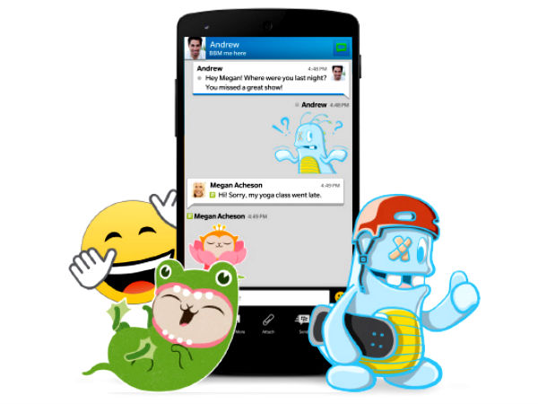BBM App Update Now Brings Sticker Support, Large File Sharing and More