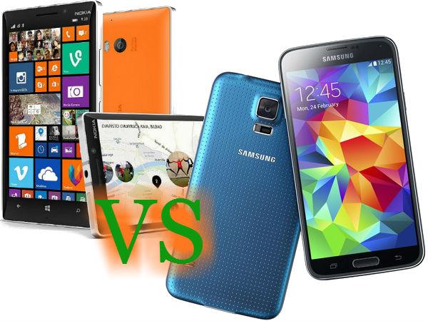 Nokia Lumia 930 Vs Samsung Galaxy S5: Who Survives the Uphill Journey