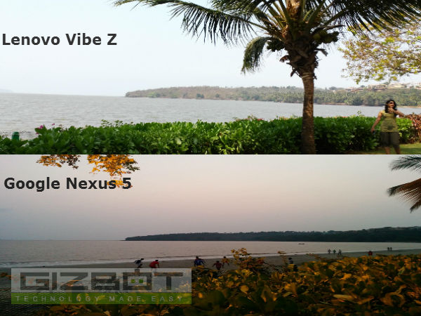 Vibe Z VS Nexus 5 - Image Capacity