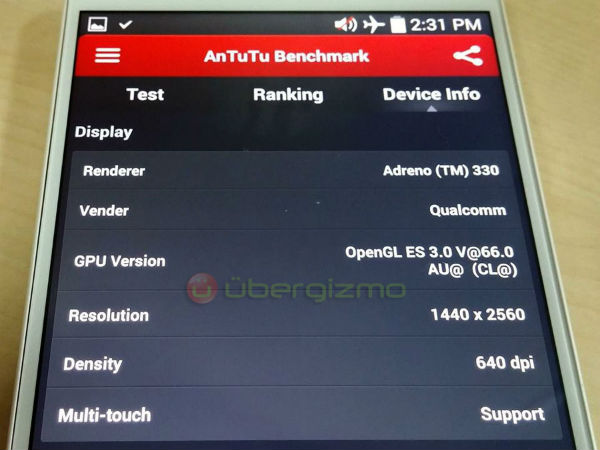 LG G3 Specifications Leaked in Benchmark