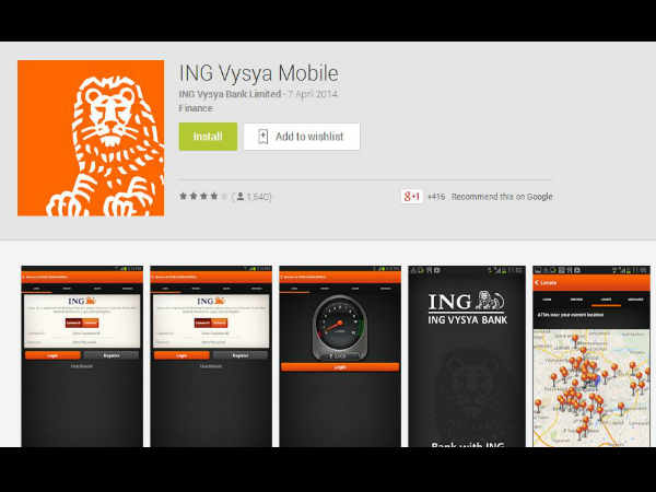 ING Vysya Mobile Banking App Released for Android, iOS